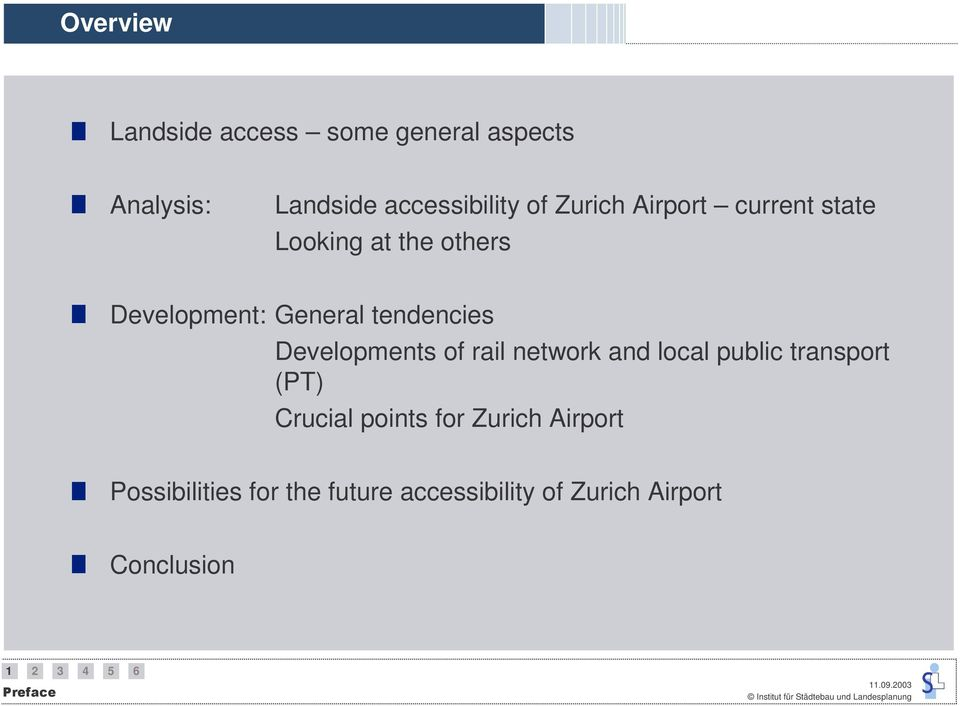 Developments of rail network and local public transport (PT) Crucial points for