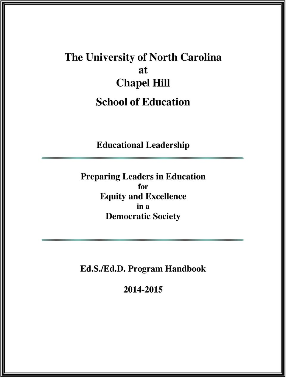Leaders in Education for Equity and Excellence in a