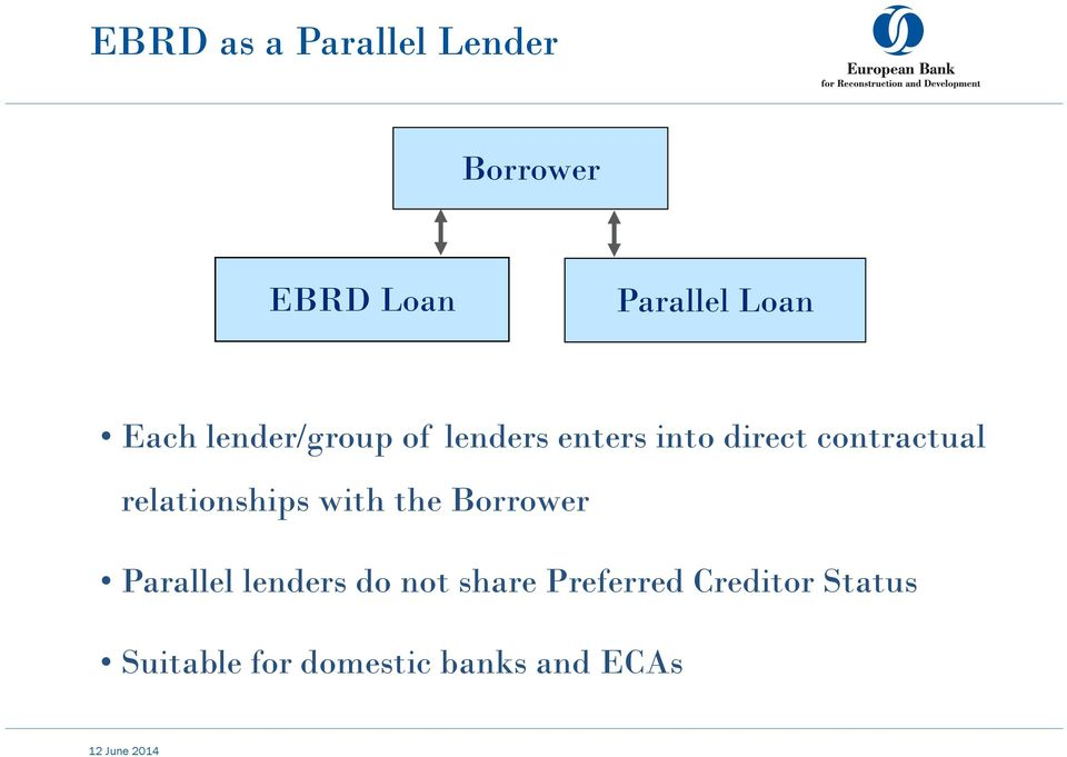 relationships with the Borrower Parallel lenders do not share