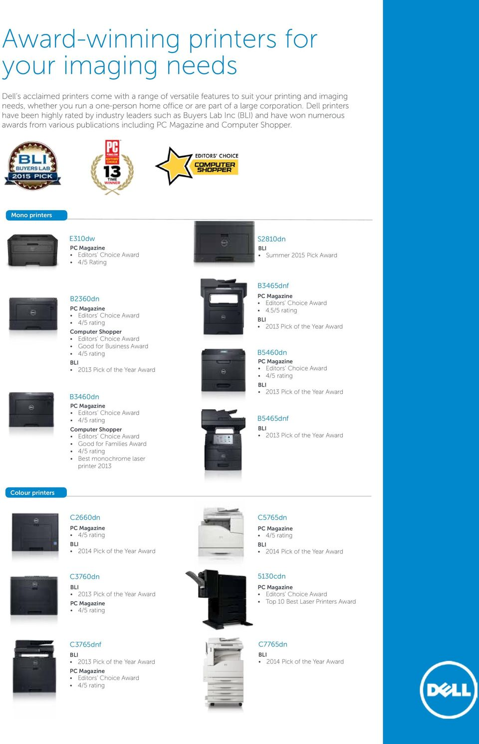 Dell printers and imaging solutions - PDF
