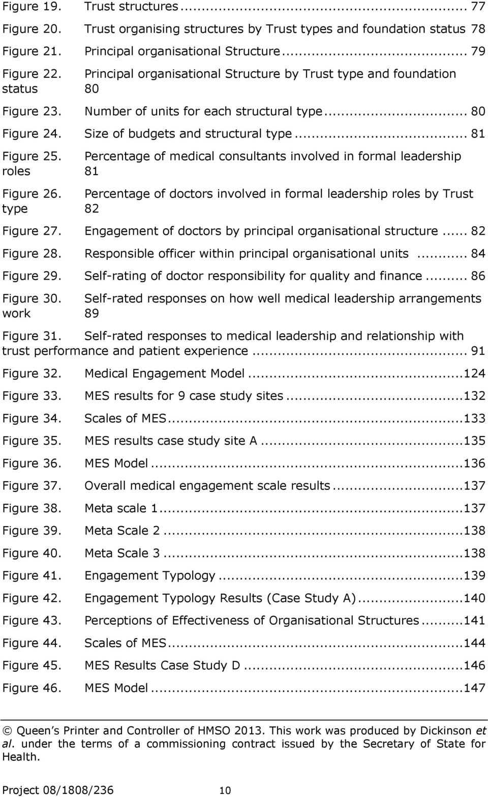 Percentage of medical consultants involved in formal leadership roles 81 Figure 26. Percentage of doctors involved in formal leadership roles by Trust type 82 Figure 27.