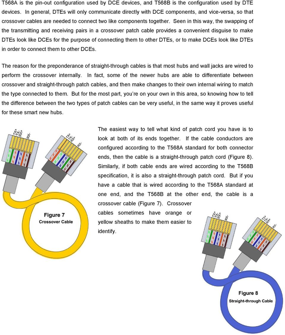 Seen in this way, the swapping of the transmitting and receiving pairs in a crossover patch cable provides a convenient disguise to make DTEs look like DCEs for the purpose of connecting them to