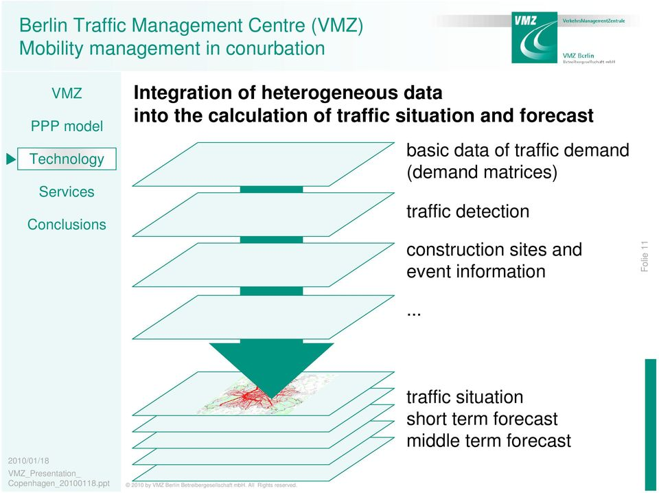 (demand matrices) traffic detection construction sites and event information