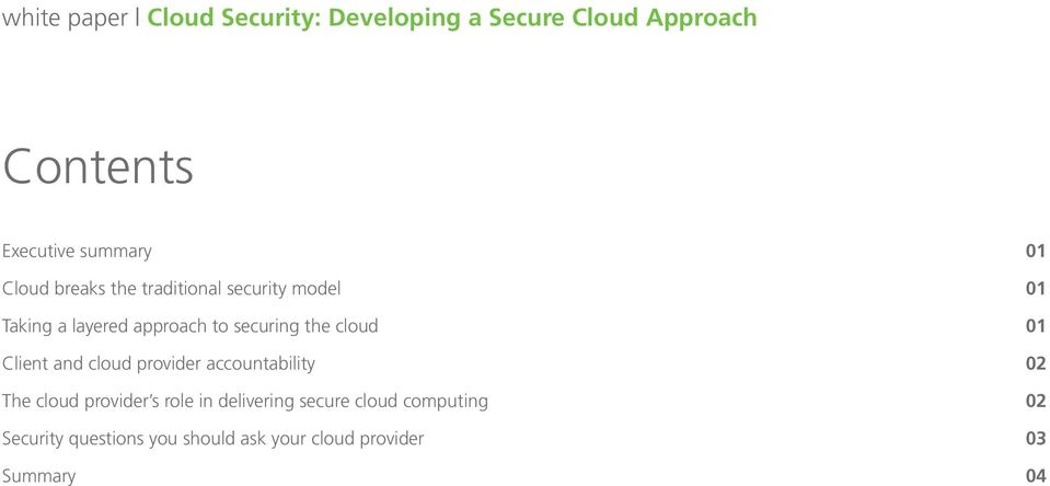 accountability 02 The cloud provider s role in delivering secure cloud
