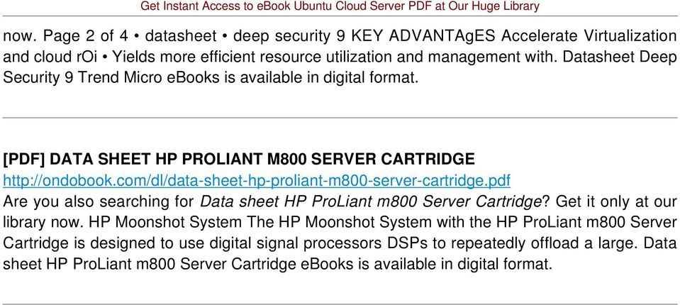 com/dl/data-sheet-hp-proliant-m800-server-cartridge.pdf Are you also searching for Data sheet HP ProLiant m800 Server Cartridge? Get it only at our library now.