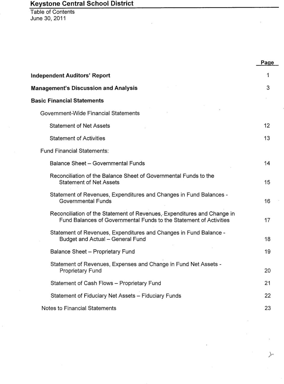 Expenditures and Changes in Fund Balances - Governmental Funds Reconciliation of the Statement of Revenues,.