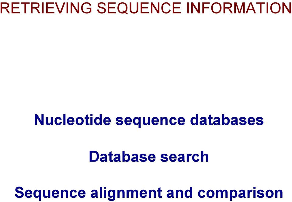 sequence databases Database