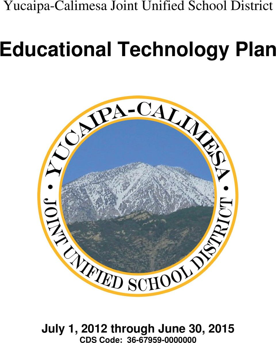Technology Plan July 1, 2012
