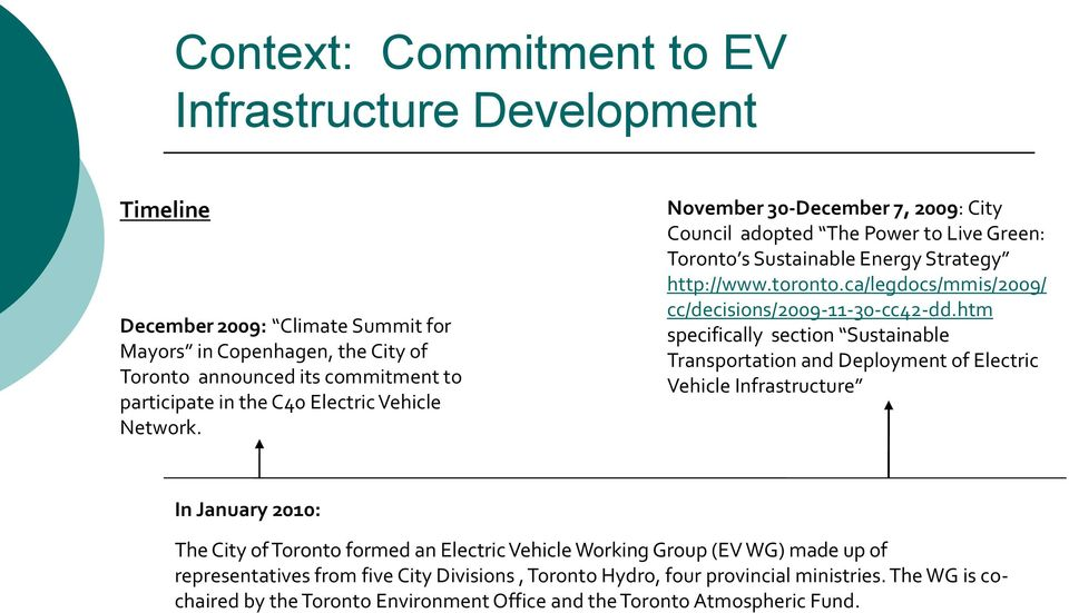 City of Toronto Electric Vehicle Working Group - PDF