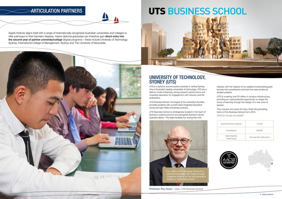 Management, Sydney and The University of Newcastle. University of Technology, Sydney (UTS) UTS is a dynamic and innovative university in central Sydney.