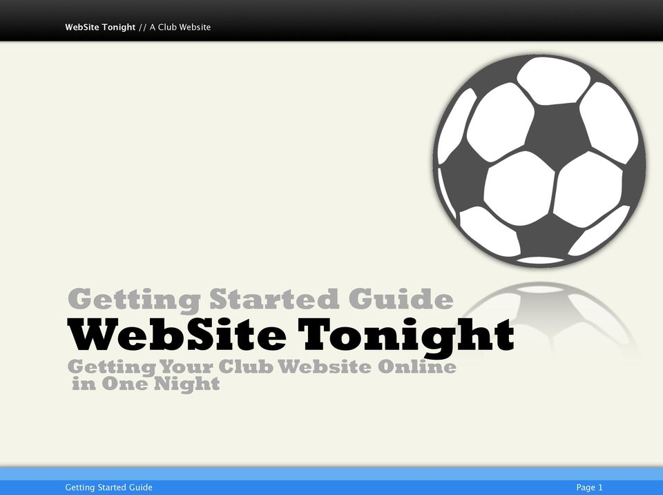 Your Club Website Online in
