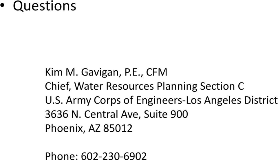 U.S. Army Corps of Engineers-Los Angeles