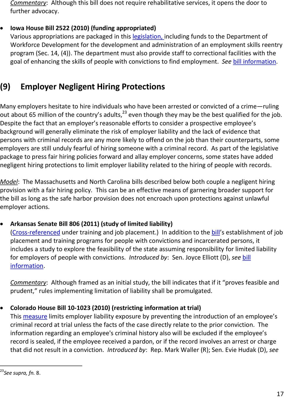 administration of an employment skills reentry program (Sec. 14, (4)).