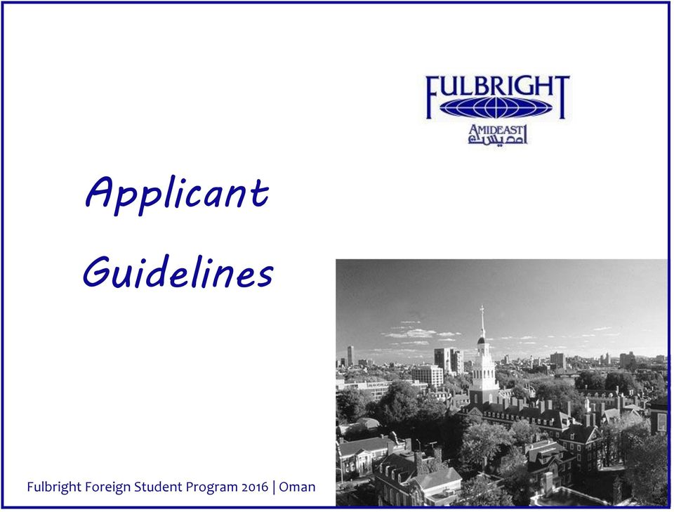 Booklet Fulbright