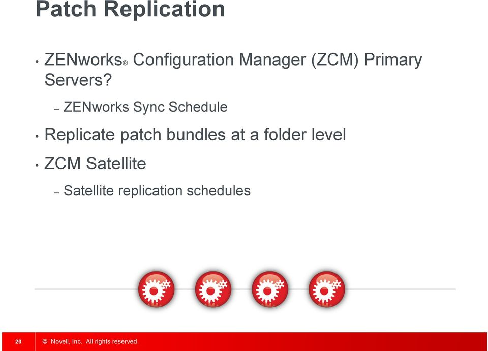 ZENworks Sync Schedule Replicate patch bundles