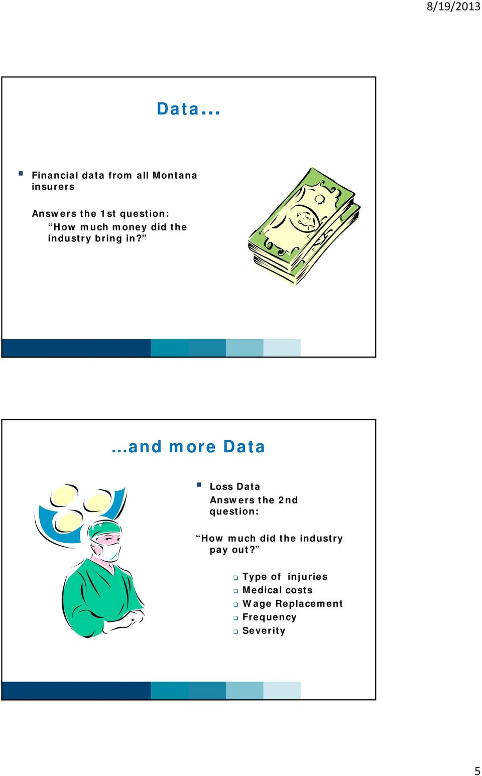 and more Data Loss Data Answers the 2nd question: How much did the