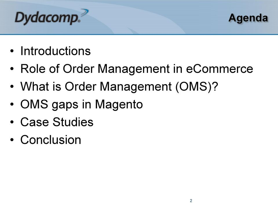 What is Order Management (OMS)?