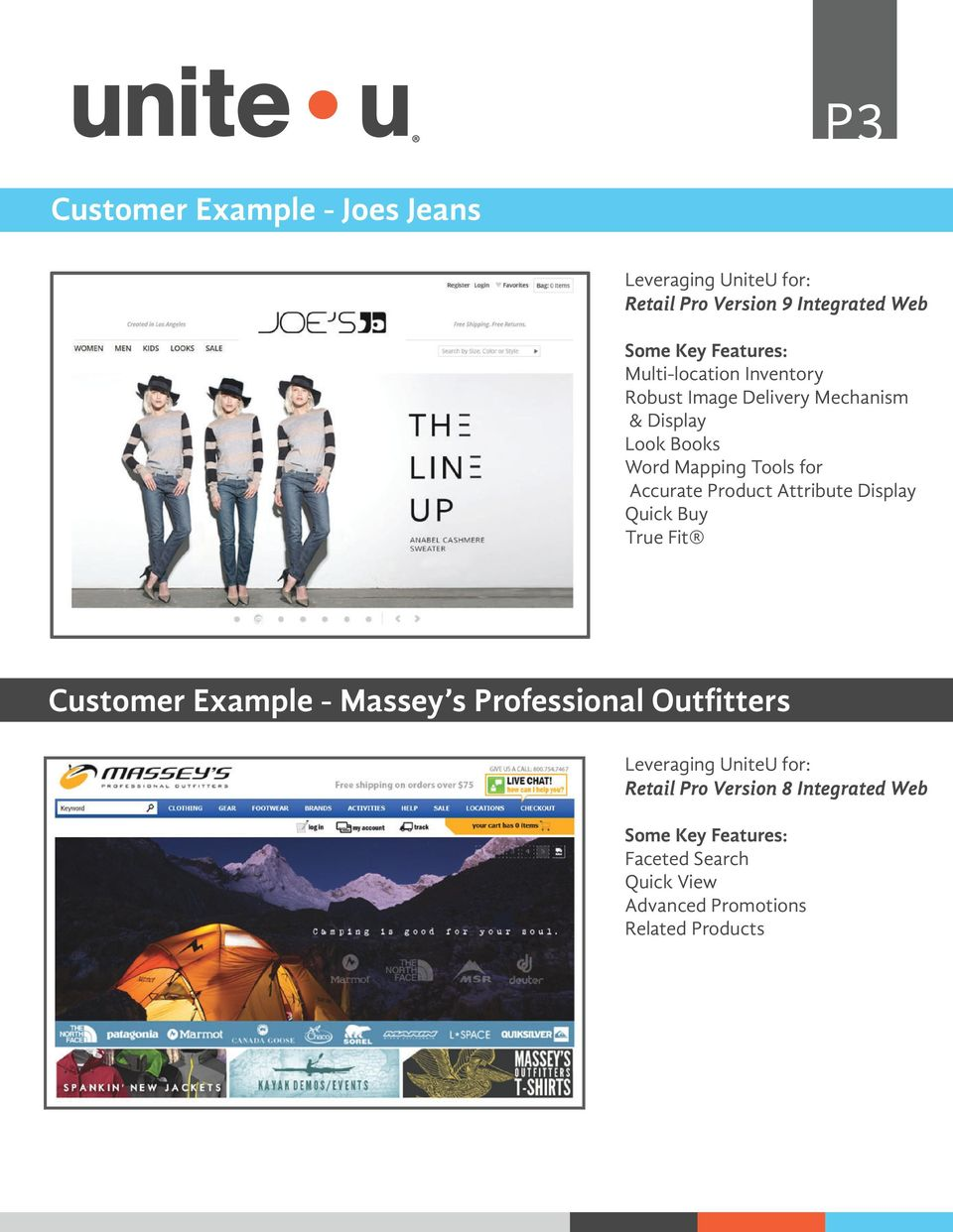 Attribute Display Quick Buy True Fit Customer Example - Massey s Professional Outfitters
