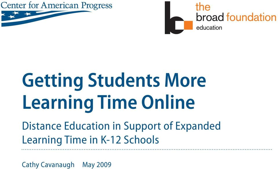 Support of Expanded Learning Time