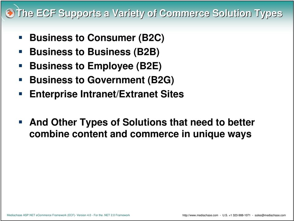 Business to Government (B2G) Enterprise Intranet/Extranet Sites And