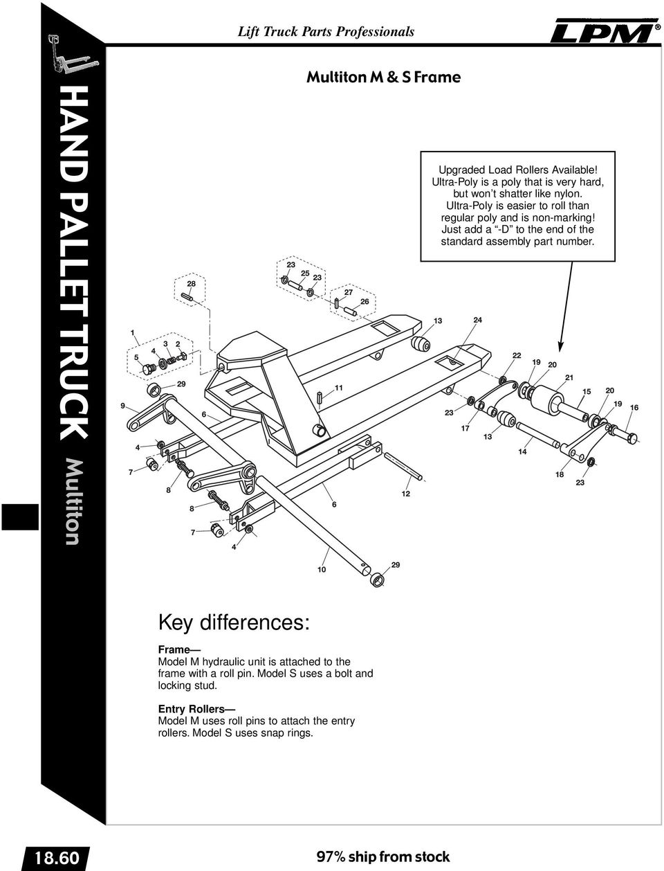 Ultra-Poly is easier to roll than regular poly and is non-marking! Just add a -D to the end of the standard assembly part number.