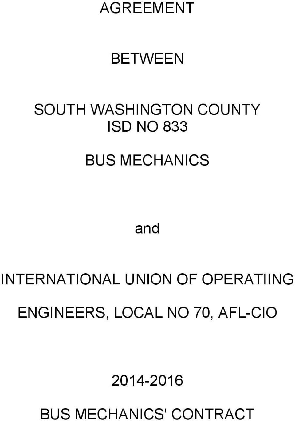 UNION OF OPERATIING ENGINEERS, LOCAL NO