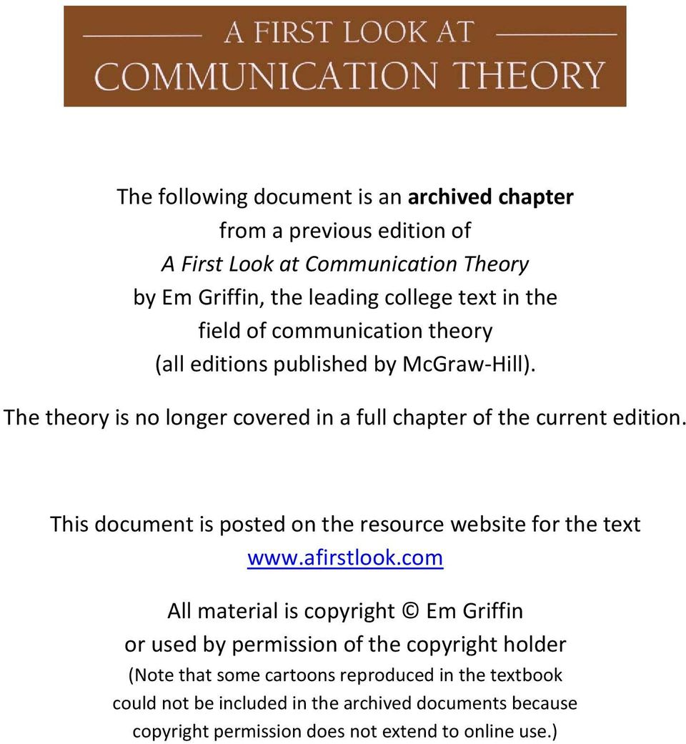 This document is posted on the resource website for the text www.afirstlook.