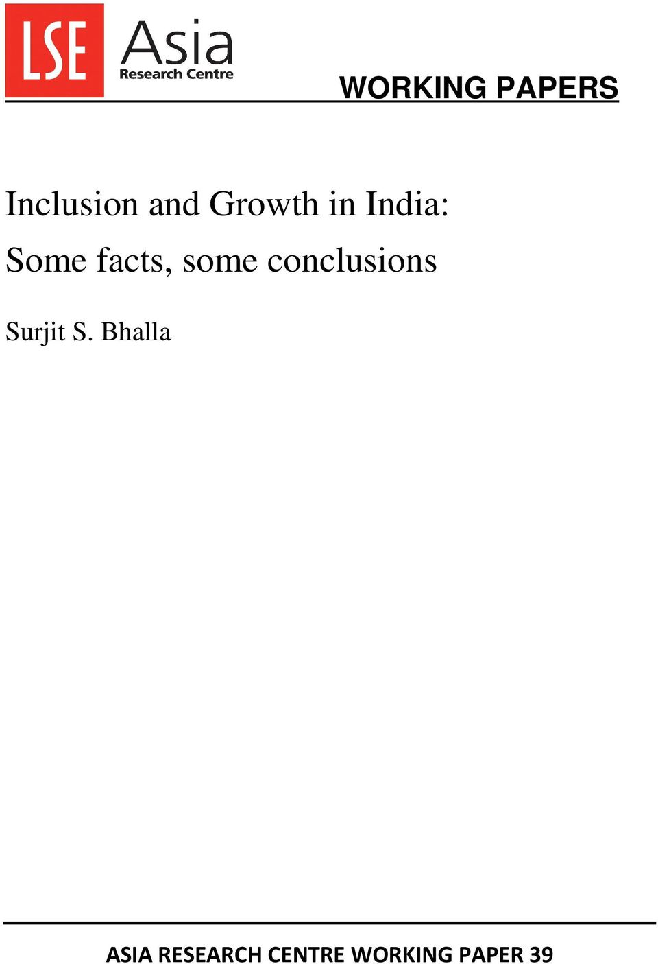 some conclusions Surjit S.