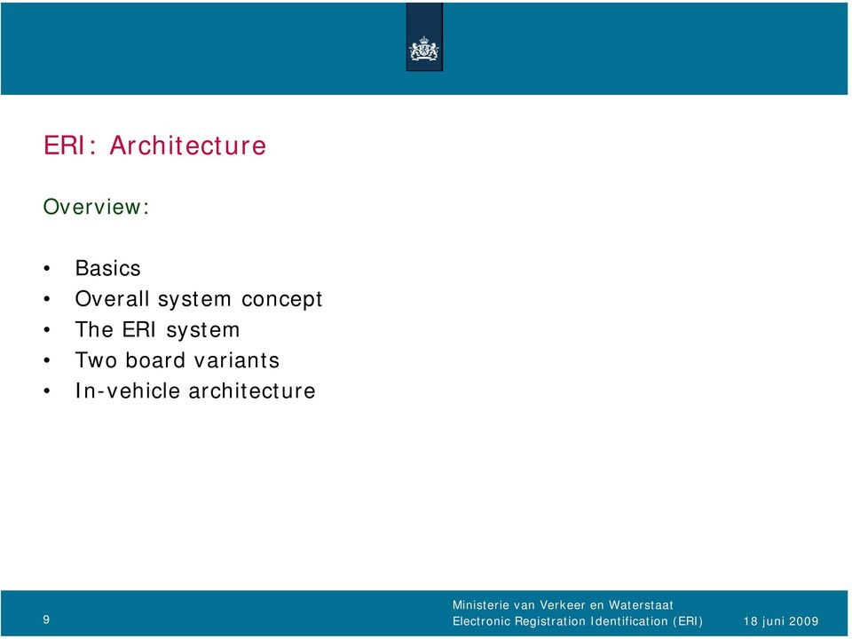 variants In-vehicle architecture 9