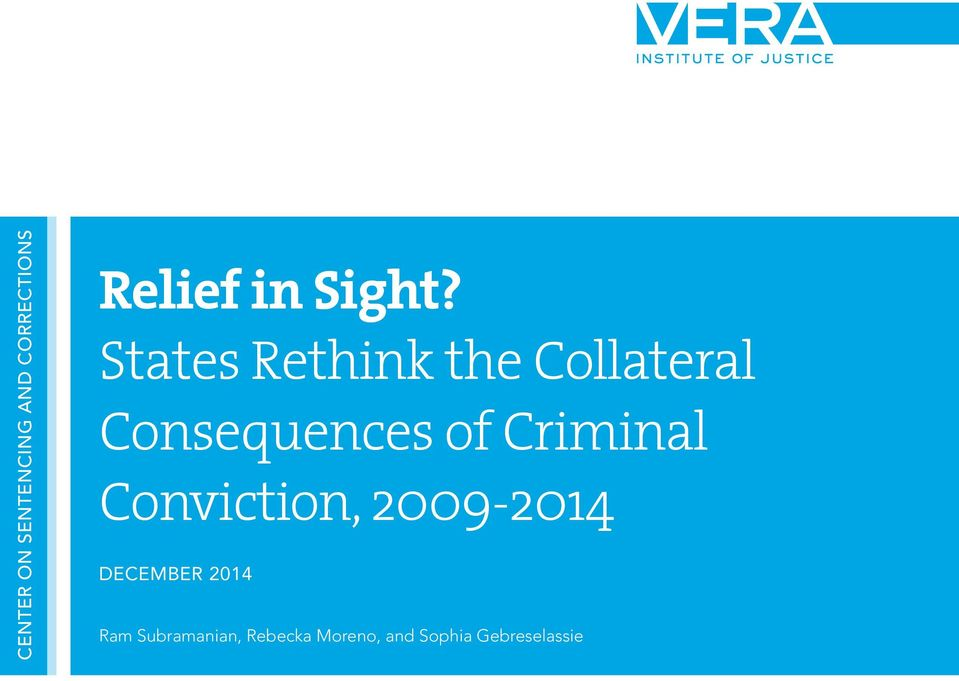 States Rethink the Collateral Consequences of