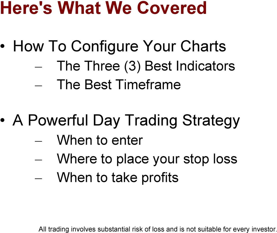 Timeframe A Powerful Day Trading Strategy When to