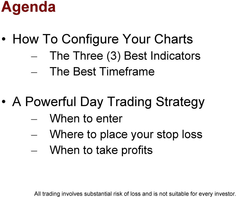 Powerful Day Trading Strategy When to enter