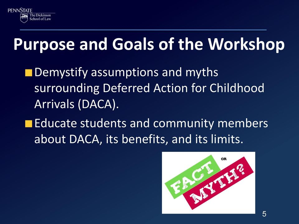 for Childhood Arrivals (DACA).