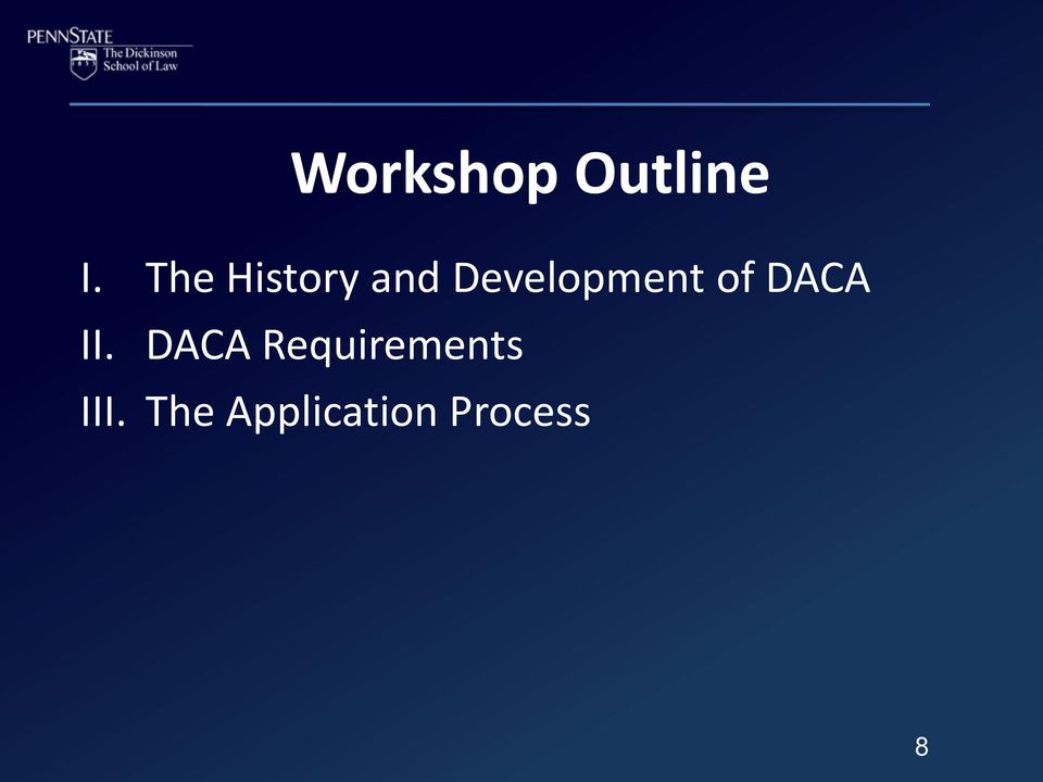 Development of DACA II.
