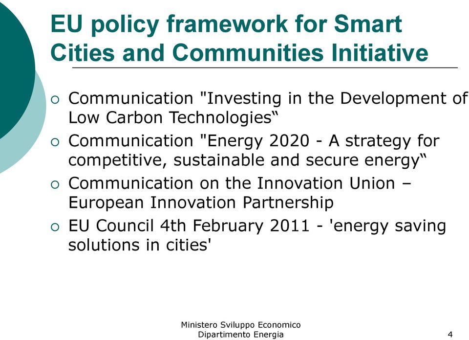 competitive, sustainable and secure energy Communication on the Innovation Union European