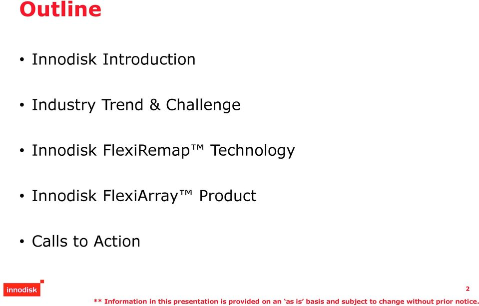 Innodisk FlexiRemap Technology