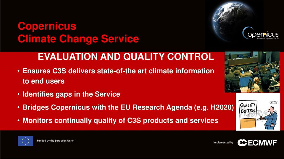 Identifies gaps in the Service Bridges Copernicus with the EU