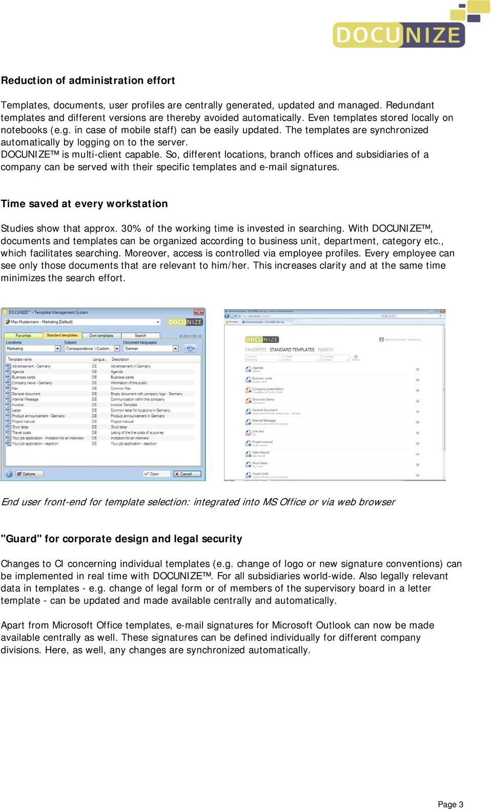 Docunize Management System For Microsoft Office Templates Pdf