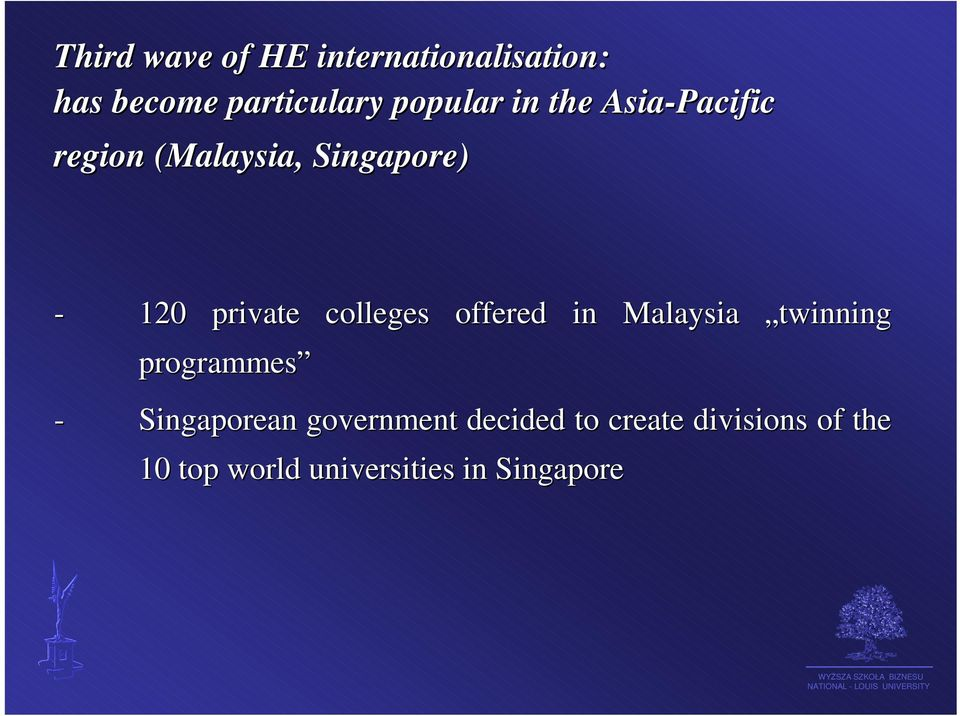 colleges offered in Malaysia twinning programmes - Singaporean