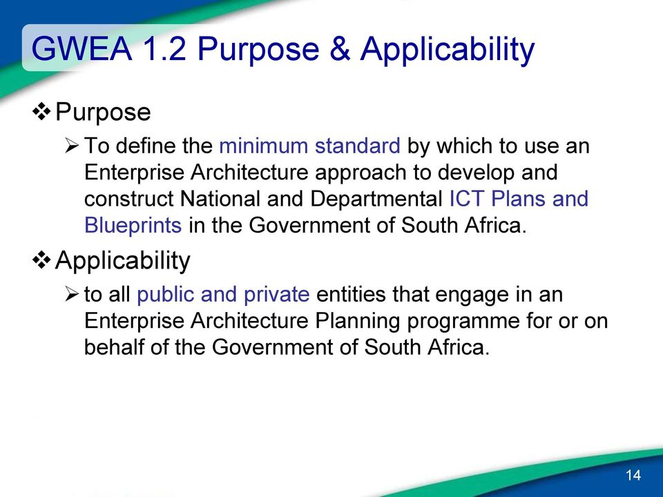 Government wide enterprise architecture gwea framework v12 of architecture approach to develop and construct national and departmental ict plans and blueprints malvernweather Image collections