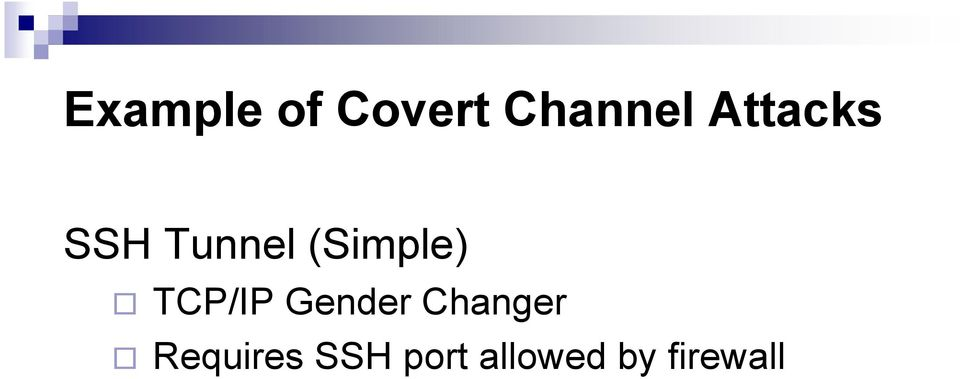 TCP/IP Gender Changer