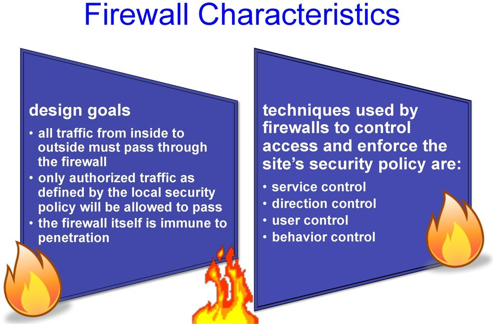 the firewall itself is immune to penetration techniques used by firewalls to control access and