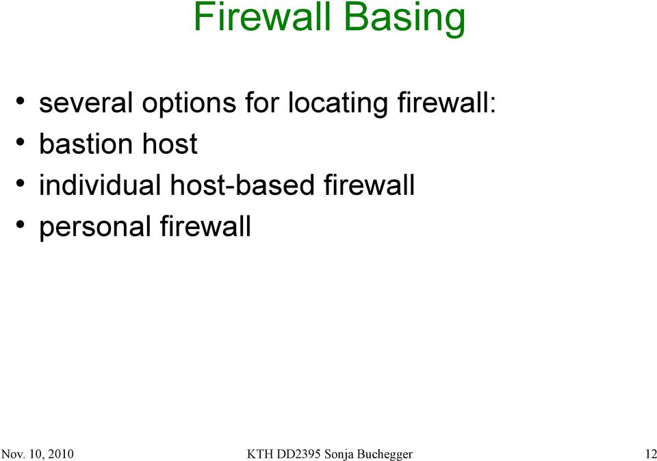 individual host-based firewall personal