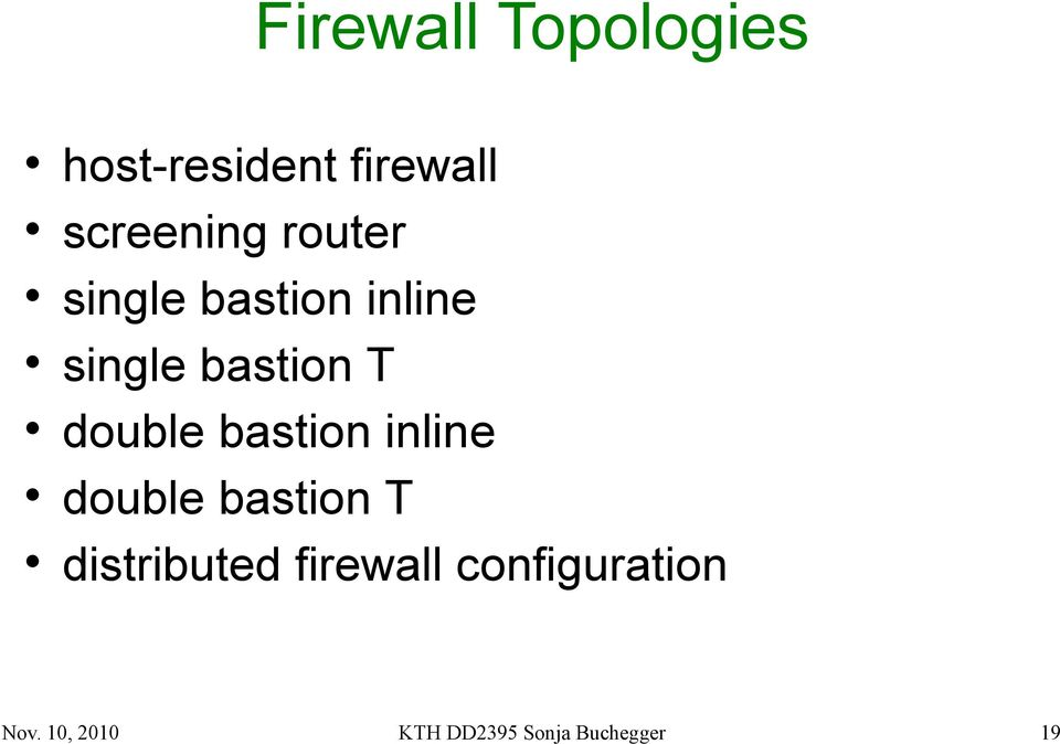 bastion inline double bastion T distributed firewall
