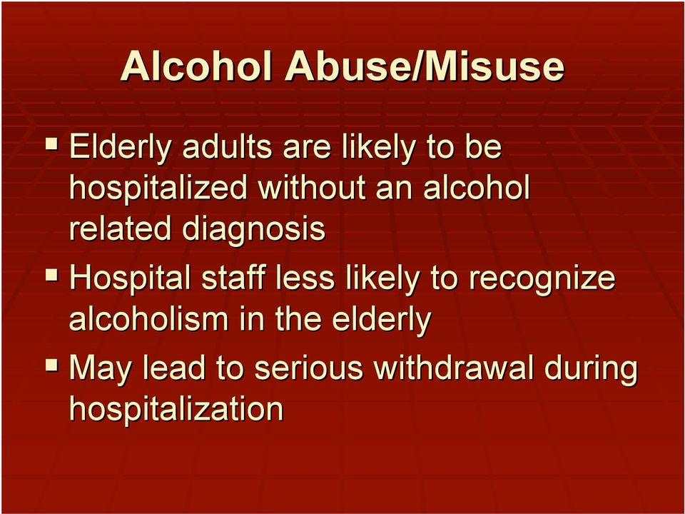 Hospital staff less likely to recognize alcoholism in