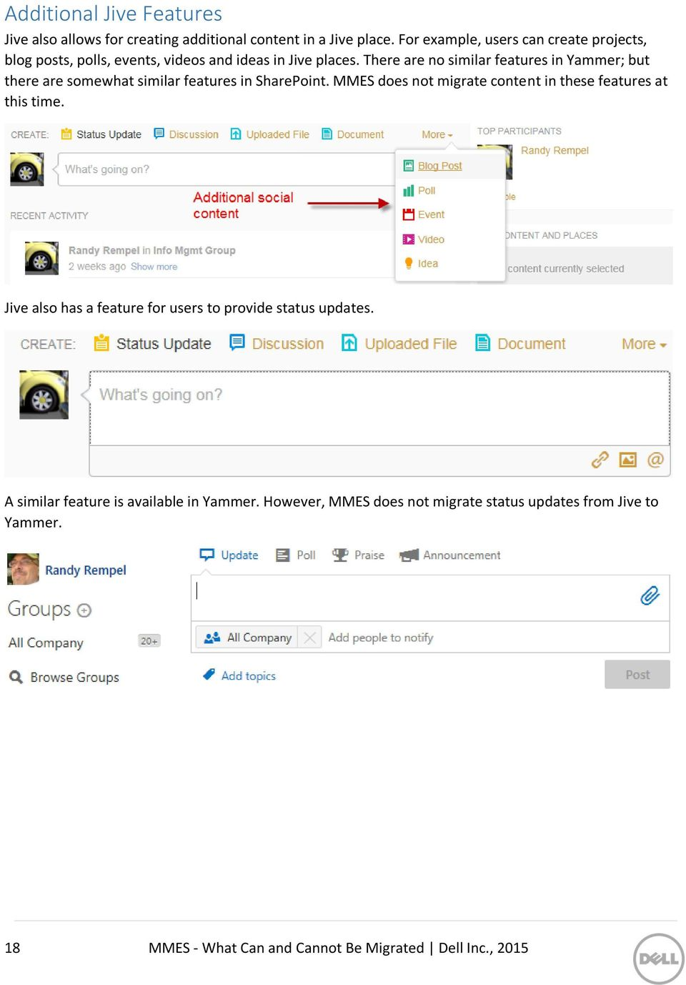 There are no similar features in Yammer; but there are somewhat similar features in SharePoint.