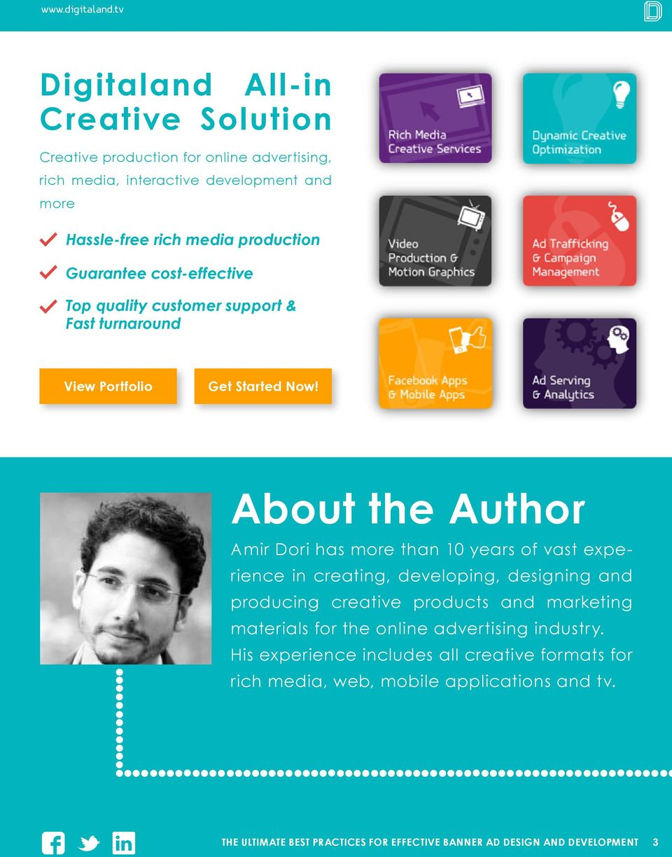 About the Author Amir Dori has more than 10 years of vast experience in creating, developing, designing and producing creative products and marketing