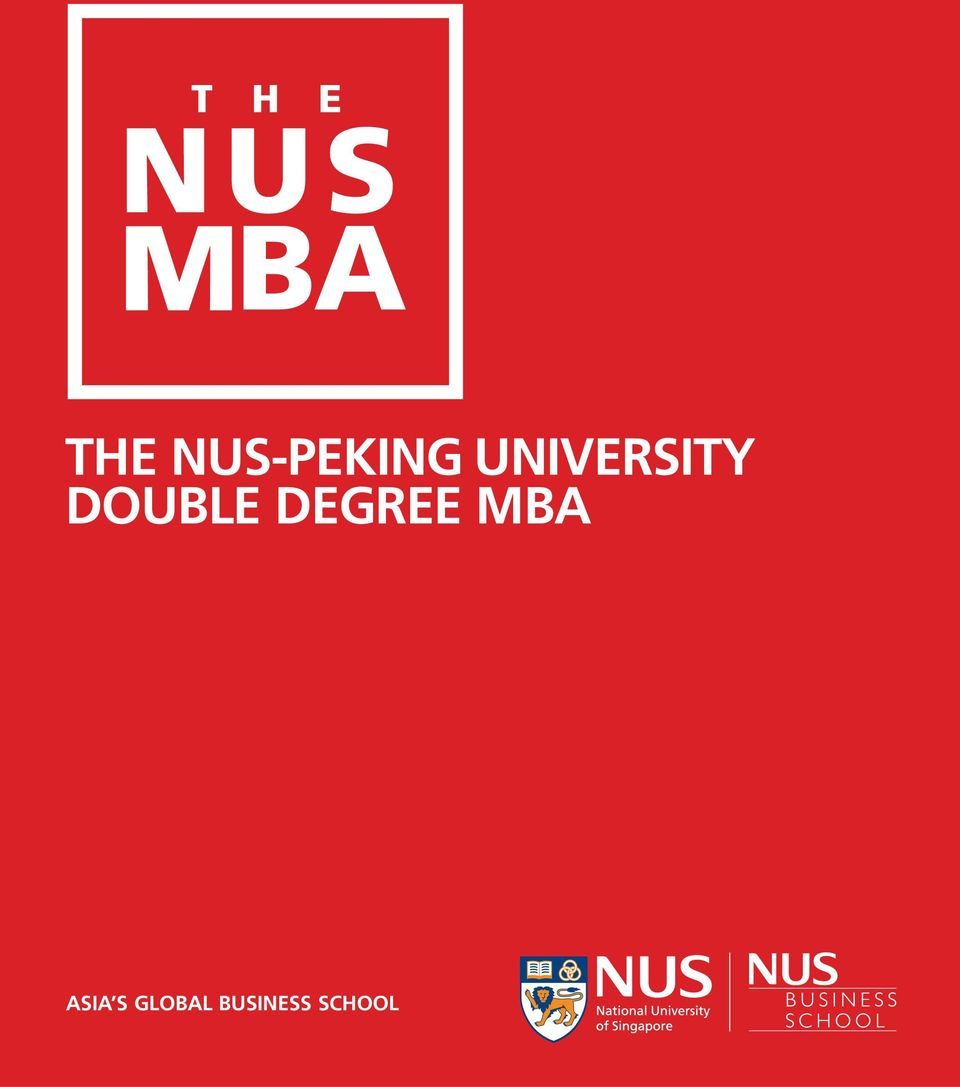 DEGREE MBA ASIA S
