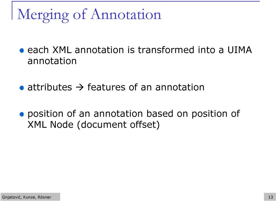 of an annotation position of an annotation based on