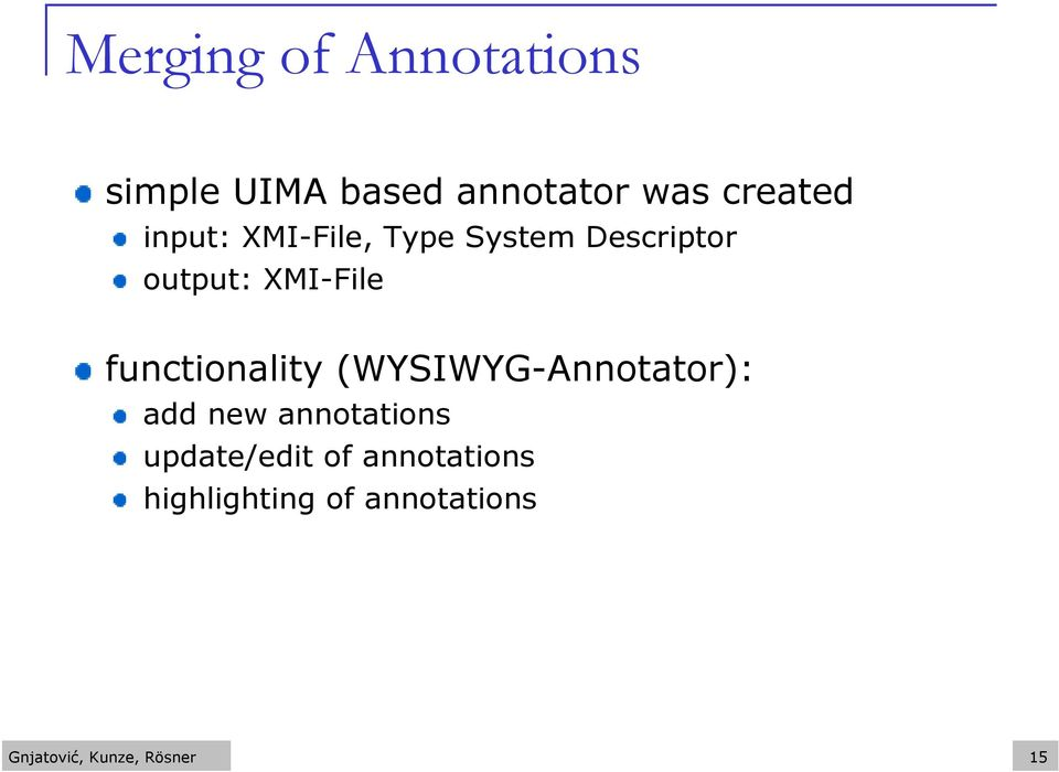functionality (WYSIWYG-Annotator): add new annotations